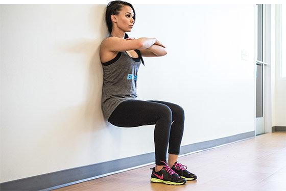 Try doing wall sits