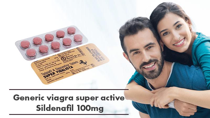 Generic Viagra Super Active Sildenafil 100mg