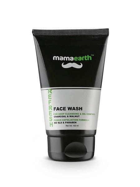 MamaEarth Refresh Oil Control Facewash For Men With Charcoal And Walnut