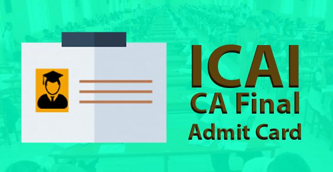 CA Final Admit Card – Download PDF From Here