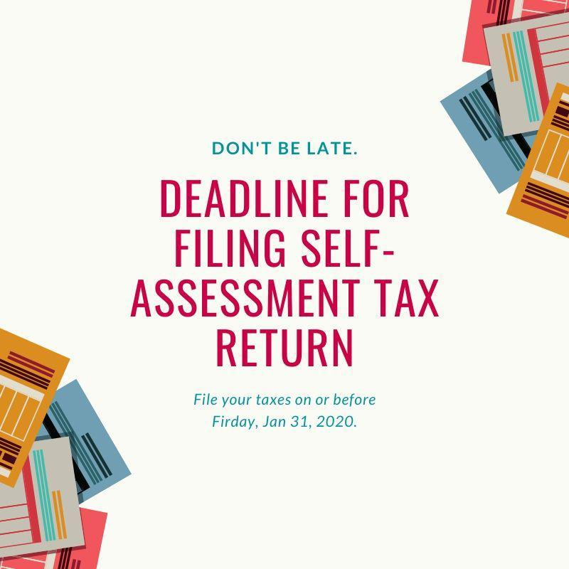 Self-Assessment tax deadline for 2019