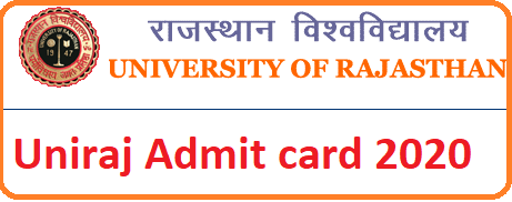 Uniraj Admit Card Download 2020 Name wise College/Non-College UG Part-1/Part-II/Part-III Admit Card